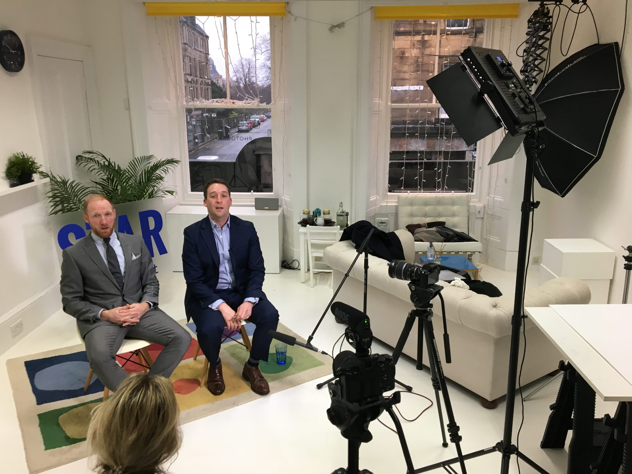 filming testimonials